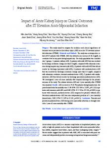 Impact of Acute Kidney Injury on Clinical Outcomes ... - Semantic Scholar