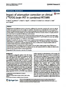 Impact of attenuation correction on clinical [18F]FDG brain PET in ...