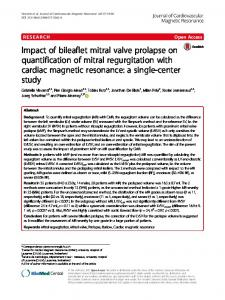 Impact of bileaflet mitral valve prolapse on quantification of mitral ...