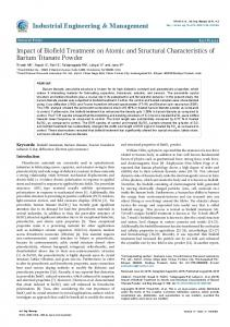 Impact of Biofield Treatment on Atomic and Structural ... - viXra.org