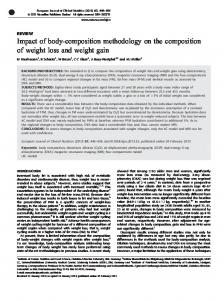 Impact of body-composition methodology on the composition of weight ...