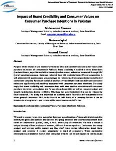 Impact of Brand Credibility and Consumer Values on Consumer ...