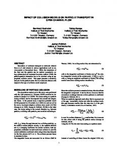 impact of collision models on particle transport in ... - TSFP conference