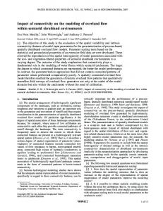 Impact of connectivity on the modeling of ... - Wiley Online Library