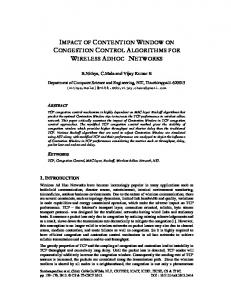 impact of contention window on congestion control algorithms ... - aircc