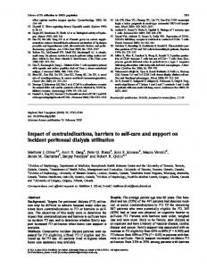 Impact of contraindications, barriers to self-care ... - Semantic Scholar