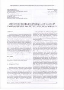 impact of diesel engine exhaust gases on environmental pollution and