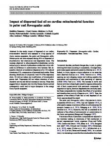 Impact of dispersed fuel oil on cardiac mitochondrial ... - Springer Link