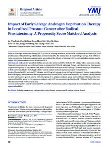 Impact of Early Salvage Androgen Deprivation Therapy in Localized ...