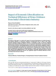 Impact of Economic Liberalization on Technical Efficiency of Firms ...