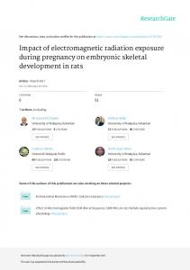 Impact of electromagnetic radiation exposure during ...