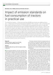 Impact of emission standards on fuel consumption of tractors in ...