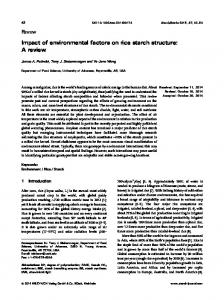 Impact of environmental factors on rice starch ... - Wiley Online Library