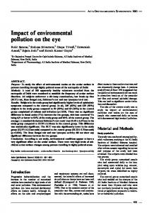Impact of environmental pollution on the eye - Wiley Online Library