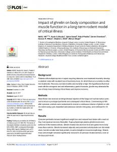 Impact of ghrelin on body composition and muscle ... - Semantic Scholar