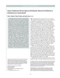 Impact of Glyphosate-Tolerant Soybean and ... - PubAg - USDA