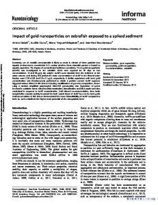 Impact of gold nanoparticles on zebrafish exposed to a ... - Criigen