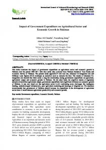 Impact of Government Expenditure on Agricultural ...