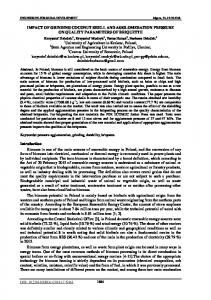 IMPACT OF GRINDING COCONUT SHELL AND ... - tf.llu.lv