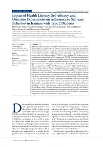 Impact of Health Literacy, Self-efficacy, and Outcome Expectations on ...