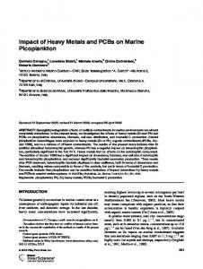 Impact of heavy metals and PCBs on marine picoplankton