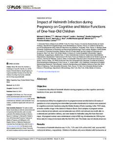 Impact of Helminth Infection during Pregnancy on ... - Semantic Scholar