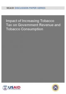 Impact of Increasing Tobacco Tax on Government Revenue and ...