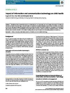 Impact of information and communication technology on child health