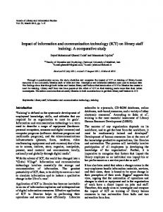 Impact of information and communication technology (ICT) on library ...