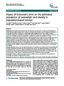Impact of instrument error on the estimated ... - BioMedSearch