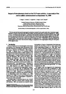 Impact of interplanetary shock on the ULF wave activity: A ... - terrapub
