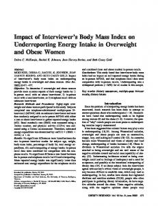 Impact of Interviewer's Body Mass Index on ... - Wiley Online Library
