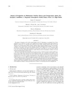 Impact of Irrigation on Midsummer Surface Fluxes and ... - CiteSeerX