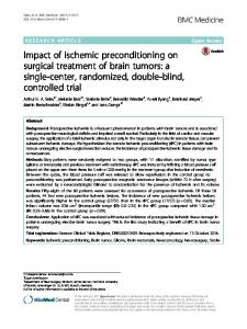 Impact of ischemic preconditioning on surgical treatment of brain tumors