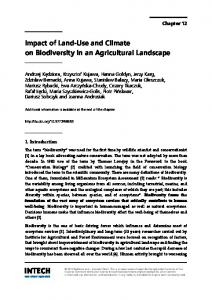 Impact of Land-Use and Climate on Biodiversity in an