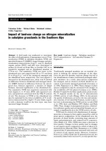 Impact of land-use change on nitrogen mineralization in ... - CiteSeerX