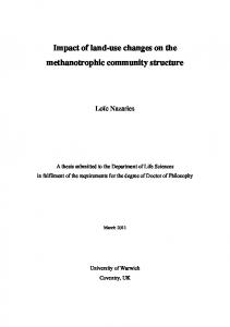 Impact of land-use changes on the methanotrophic