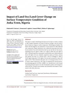 Impact of Land Use/Land Cover Change on Surface Temperature ...
