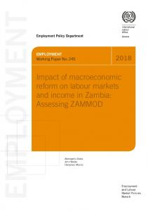 Impact of macroeconomic reform on labour markets and income in