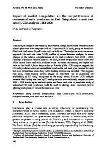 Impact of market deregulation on the competitiveness of commercial ...