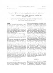 impact of maternal body mass index on neonatal ... - Springer Link