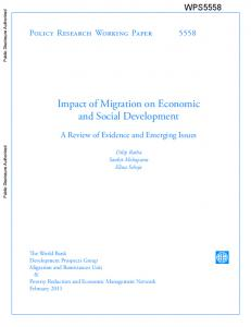 Impact of migration on economic and social development