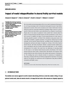 Impact of model misspecification in shared frailty