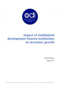 Impact of multilateral development finance institutions ...