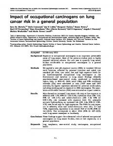 Impact of occupational carcinogens on lung cancer ... - Oxford Academic