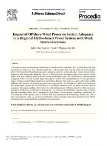 Impact of Offshore Wind Power on System Adequacy ... - CyberLeninka