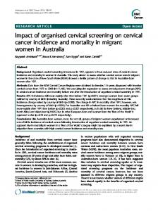 Impact of organised cervical screening on cervical cancer incidence ...