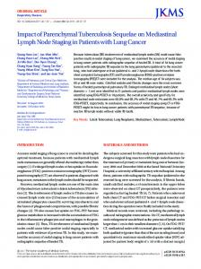 Impact of Parenchymal Tuberculosis Sequelae on ... - BioMedSearch