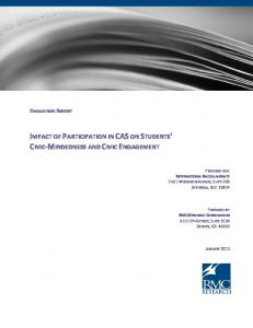 impact of participation in cason students' civic-mindedness and civic ...