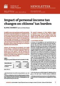 Impact of personal income tax changes on citizens' tax burden